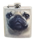 Just Funky JFL-FSK-DOG-PUG-C Pug Face 7oz Flask
