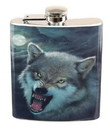 Just Funky JFL-FSK-WOLF-GRR-C Growling Wolf 7oz Flask