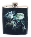 Just Funky JFL-FSK-WOLF-MOON-C Three Wolf Moon 7oz Flask