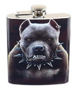Just Funky JFL-FSK-ZOMB-PIT-C Growling Pitbull 7oz Flask