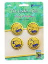 Just Funky JFL-GG-BTN-25374-C The Golden Girls Button Pin Set | Exclusive Dorothy, Rose, Blanche & Sophia Pins
