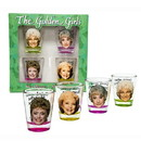 Just Funky JFL-GG-SG4-13708-C Golden Girls Shot Glasses, Set of 4 Perfect for the Golden Girls Drinking Game