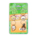 Just Funky Golden Girls Wine Charms, Set of 4