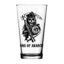 Just Funky JFL-GLS-SOA-LOGO-C Sons of Anarchy Logo Clear Pint Glass