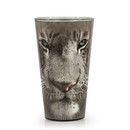Just Funky White Tiger Collectible Animal Print Glass White Tiger 16-Ounce Pint Glass