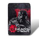Just Funky Gears Of Wars Large Fleece Blanket - Licensed Microsoft Studios Merchandise