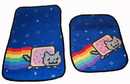 Just Funky Nyan Cat Car Floor Mats Set