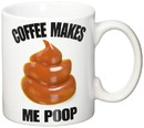 Just Funky Coffee Makes Me Poop 12oz Ceramic Coffee Mug