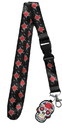Just Funky JFL-JF-LYD-590-C Day of the Dead Sugar Skull Charm Lanyard