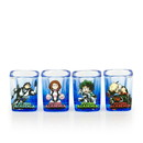 Just Funky My Hero Academia 2oz Square Shot Glass 4 Pack