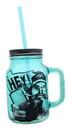 Just Funky Duck Commander Si Hey 16oz Blue Mason Jar Mug w/ Straw
