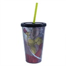 Just Funky One Man Punch Foil Print Saitama 16oz Carnival Cup w/ Straw & Lid