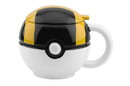 Just Funky Pokemon GO Ultra Ball 16oz Ceramic Molded Coffee Mug w/ Lid