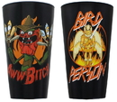 Just Funky JFL-RM-GS2-16802-C Rick and Morty 16oz Scary Terry & Bird Person Pint Glass 2-Pack