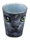 Just Funky JFL-SG-CAT-BLACK-C Black Cat With Green Eyes 2oz Shot Glass