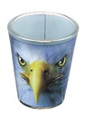 Just Funky JFL-SG-MIS-EAGLE-C Eagle Face 2oz Shot Glass
