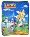 Just Funky JFL-SH-BL-5094-C Sonic The Hedgehog Sonic & Tails Large Fleece Throw Blanket 60 x 45 Inches