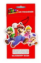 Just Funky Super Mario Group Air Freshener - Licensed Nintendo Accessory - Blueberry Scent