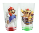 Just Funky Super Mario Bros. Mario and Bowser 2-Pack Pint Glass