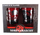 Just Funky JFL-SOA-GS2-2081-C Sons of Anarchy SAMCRO 16oz Pint Glasses, Set of 2
