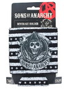 Just Funky Sons of Anarchy Black and White Stripe Reaper Foam Can Koozie