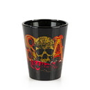 Just Funky Sons Of Anarchy Logo Shot Glass Set Of 4 SAMCRO Logo Bar Glasses 1.5 Ounces