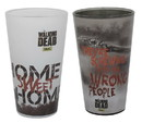 Just Funky JFL-WD-GS2-2123-C The Walking Dead Home Sweet Home/ Wrong People Pint Glass 2-Pack