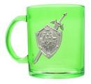 Just Funky The Legend of Zelda Hylian Shield 16oz Green Glass Coffee Mug