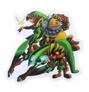 Just Funky The Legend of Zelda Link Sword & Shield Sticker