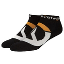JINX Overwatch Logo Ankle Socks 3 Pack, Black, One Size
