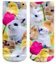 Easter Bunnies Photo Print Ankle Socks