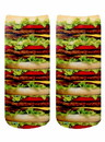 Living Royal LVR-4103C-C Stacked Hamburgers Photo Print Crew Socks