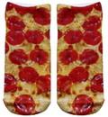 Pizza Photo Print Ankle Socks