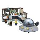 Mcfarlane Toys Rick and Morty Spaceship & Garage 294-Piece Construction Set w/ Rick & Morty