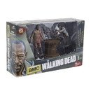 Mcfarlane Toys The Walking Dead Deluxe Action Figure Set Morgan Impaled Walker and Spike Trap