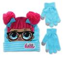 MGA Entertainment MGA-20753-C Lol Surprise Dolls Girls Winter Beanie & Glove Set, Blue