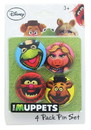 Monogram International MNG-28013-C Disney The Muppets 1.25 Inch Collectible Button Pins Set of 4