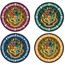 Harry Potter School Crest 4-Piece Coaster Set: Round
