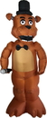 Morbid Enterprises MOI-M38122-C Five Nights At Freddy's Animated Freddy Inflatable Halloween Decoration