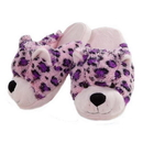 My Pillow Pets My Pillow Pets Pink Leopard Plush Slippers Small