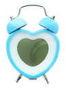 Nerd Block Heart Shaped Twin Bell Digital Alarm Clock, Blue
