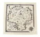 Nerd Block NBK-3630-C Legend Of Zeld Map Of Hyrule Tea Towel Set Of 2