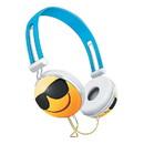 Nerd Block NBK-820-EMJ-SUN-C Emoji Overhead Stereo Headphones, Sunglasses