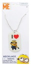 Nerd Block Despicable Me Dog Tag Necklace - I Love Minions