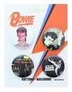 David Bowie Carded Button Pin 4 Pack
