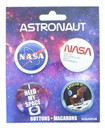 NASA Carded Button Pin 4 Pack