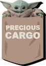 NMR Distribution NMR-95886-C Star Wars The Mandalorian The Child Precious Cargo Funky Chunky Magnet
