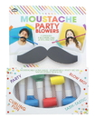 NPW Gifts NPW-25989-C Novelty Moustache Party Blowers, 8-Piece