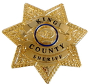Olde Scotland Yard OSY-01836-C The Walking Dead King County Sheriff Prop Replica Brass Metal Badge with Holder