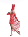 Party King Costumes Red Lace Lady Pop Star Costume Dress Child
